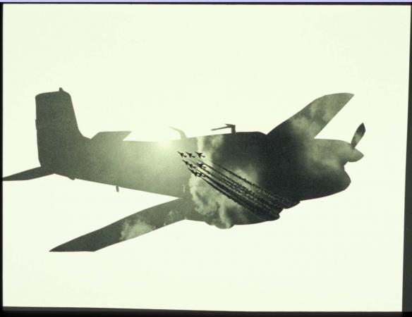Airplanes & sky #25, Michalis Pichler, 2005, collection of John Stezaker