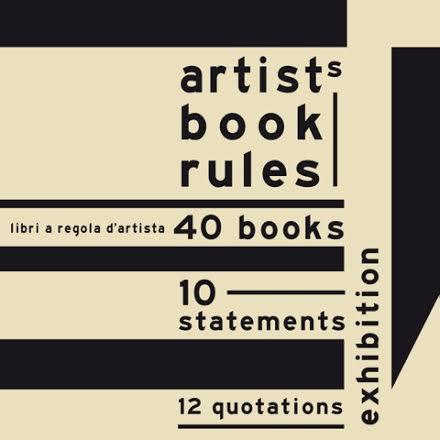 Artist's book rules libri a regola d'artista