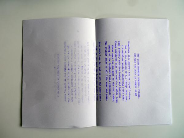 555 SCHNAPSPRESSE SONNETS, FOLDED, STAPLED AND SOLD IN CHUNKS OF 5
