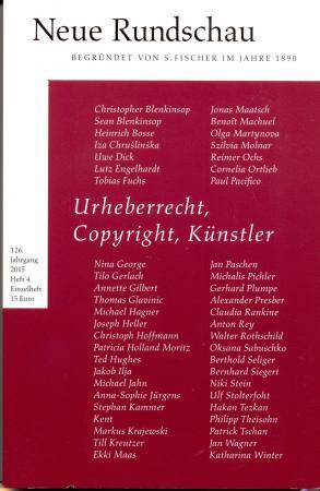 Urheberrecht, Copyright, Künstler  NEUE RUNDSCHAU