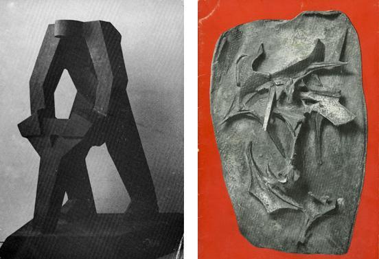 from left to right: Evangelos Markantonis, Retrospective 1955-1989, Giovanna Spiteris, Sculpture, 1961