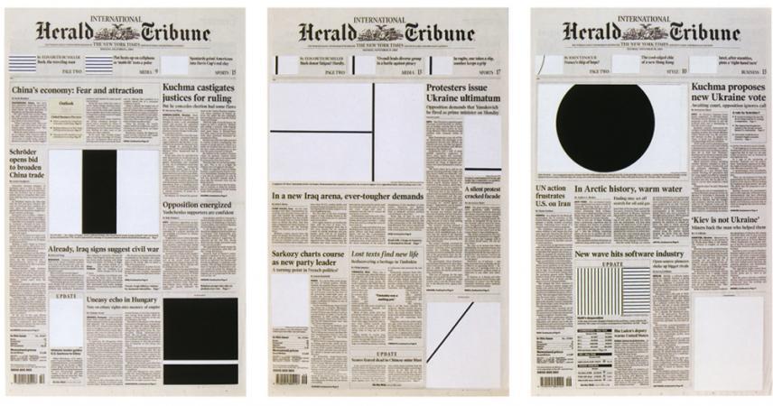 Marine Hugonnier, Art for Modern Architecture (Homage to Ellsworth Kelly) Herald Tribune (Week of November 30th to December 1st, 2004)