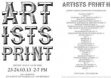 ARTISTS Prints, Brussels, Komplot 2013