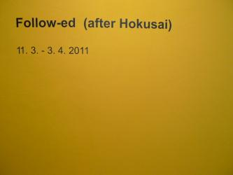 follow-ed (after hokusai) at Gallery P74