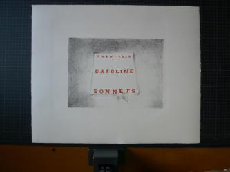 TWENTYSIX GASOLINE SONNETS, Michalis Pichler, ed. 30, 2011