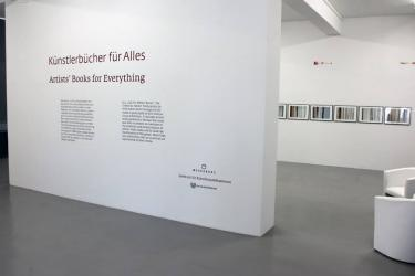 Artists' Books for Everything, Zentrum für Künstlerpublikationen / Weserburg, June 2 - August 6, 2017