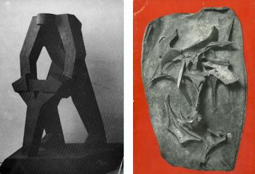 from left to right: Evangelos Markantonis, Retrospective 1955-1989, Giovanna Spiteris, Sculpture, 1961