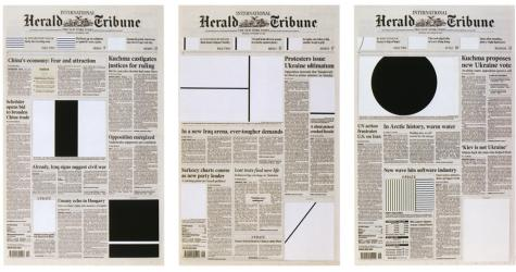 Marine Hugonnier, Art for Modern Architecture (Homage to Ellsworth Kelly) Herald Tribune (Week of November 30th to December 1st, 2004)